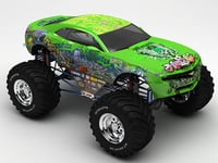 3D monster car