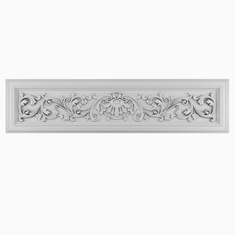 3D model decorative panel classical style