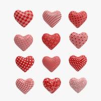heart s pattern 3D model