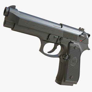 realistic m9 beretta 3D model