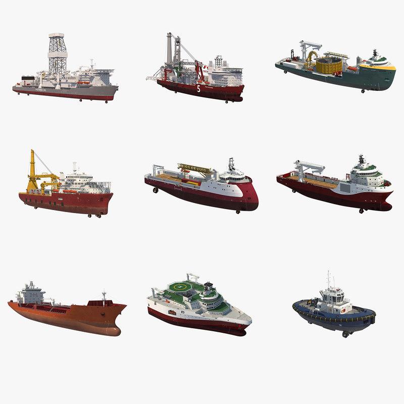 offshore kitbash vessels model