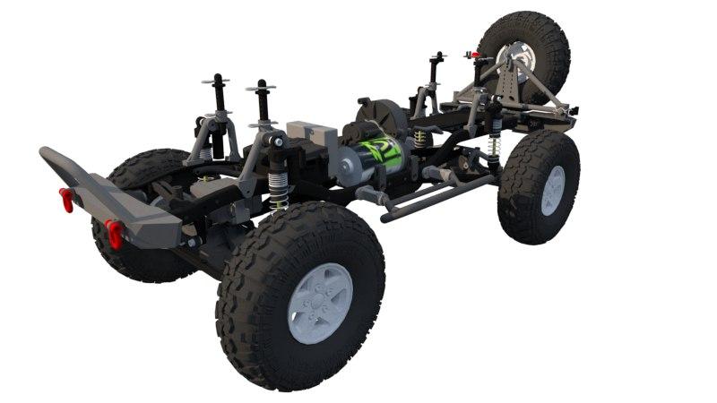 3D parts scx10 jeep