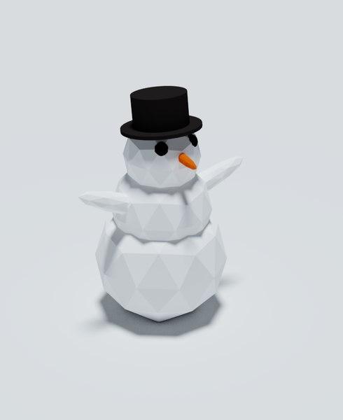 snowman rigged 3D