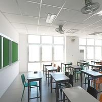 3D school class room