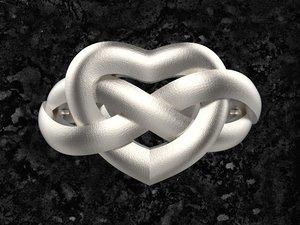 3D ring heart