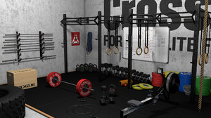 3D crossfit rogue bars model