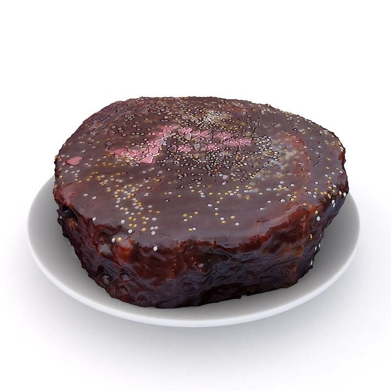 birthday chocolate cake 3D