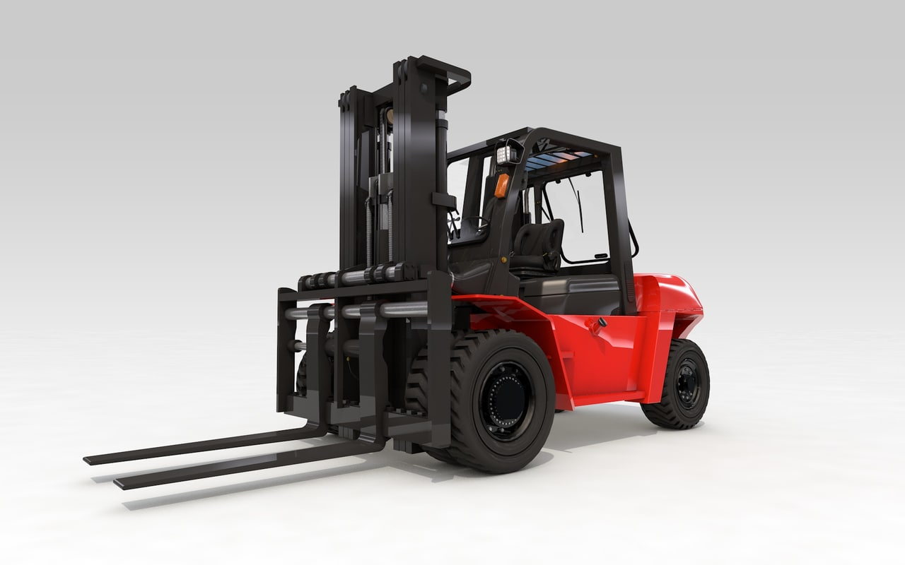 big forklift animation 3D