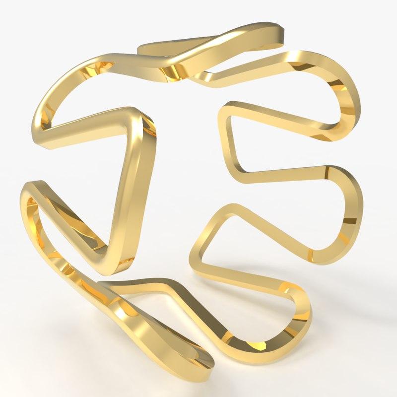 3D men s ring model