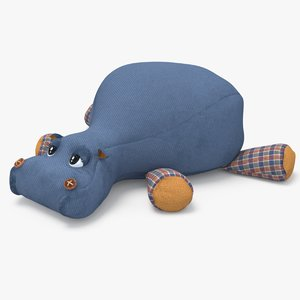 3D hippo toy