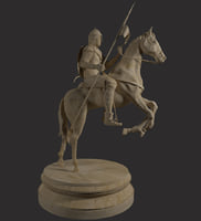 3D cavalry statue