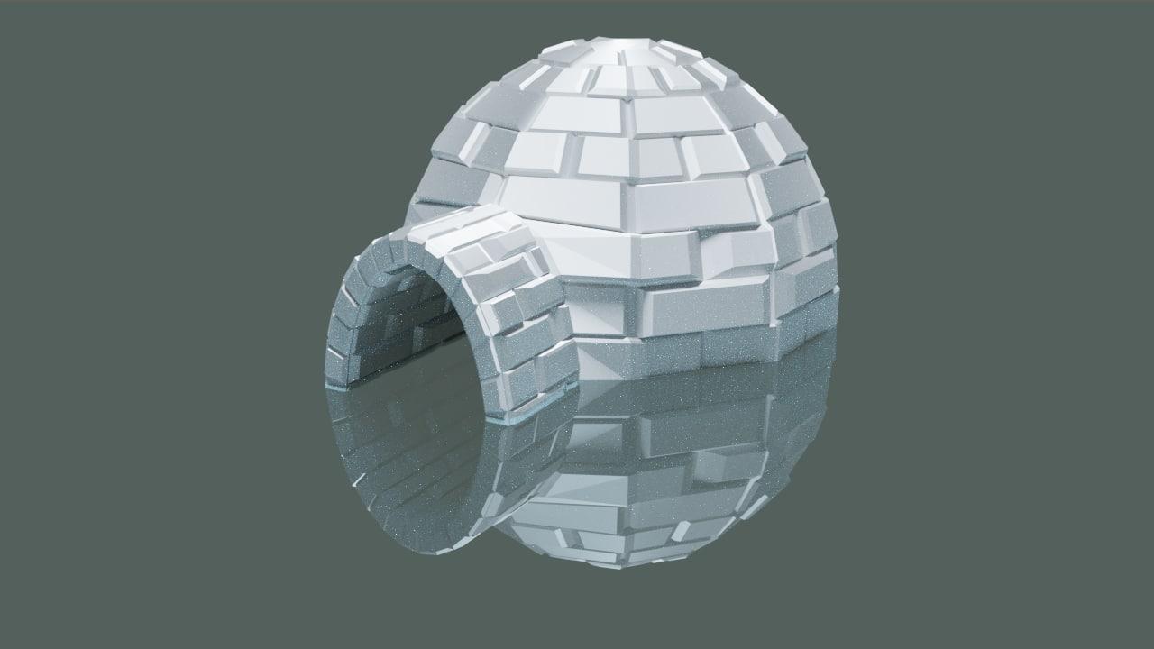 igloo building 3D model