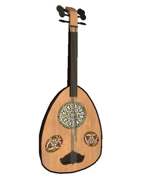 arabic musical instrument 3D