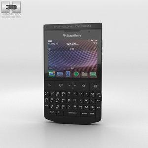 3D model blackberry porsche design