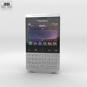 3D blackberry porsche design model