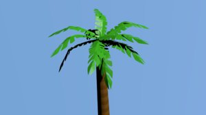 3D model coconut tree