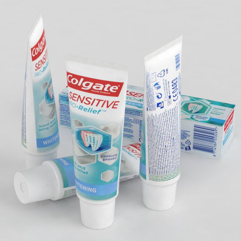 colgate toothpaste 3D model