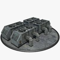 3D model sci-fi ventilation