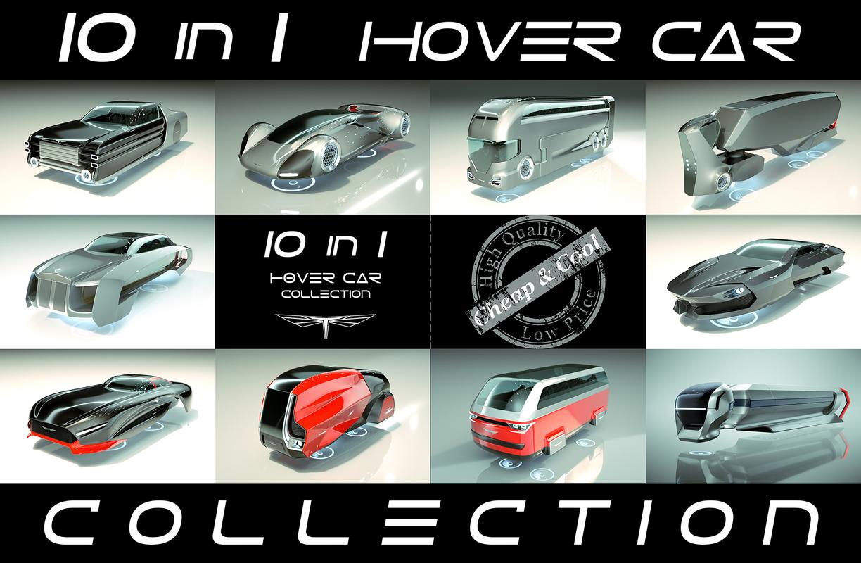 3D 10 1 cool hover car
