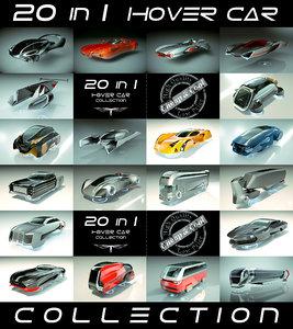 3D model 20 1 cool hover car