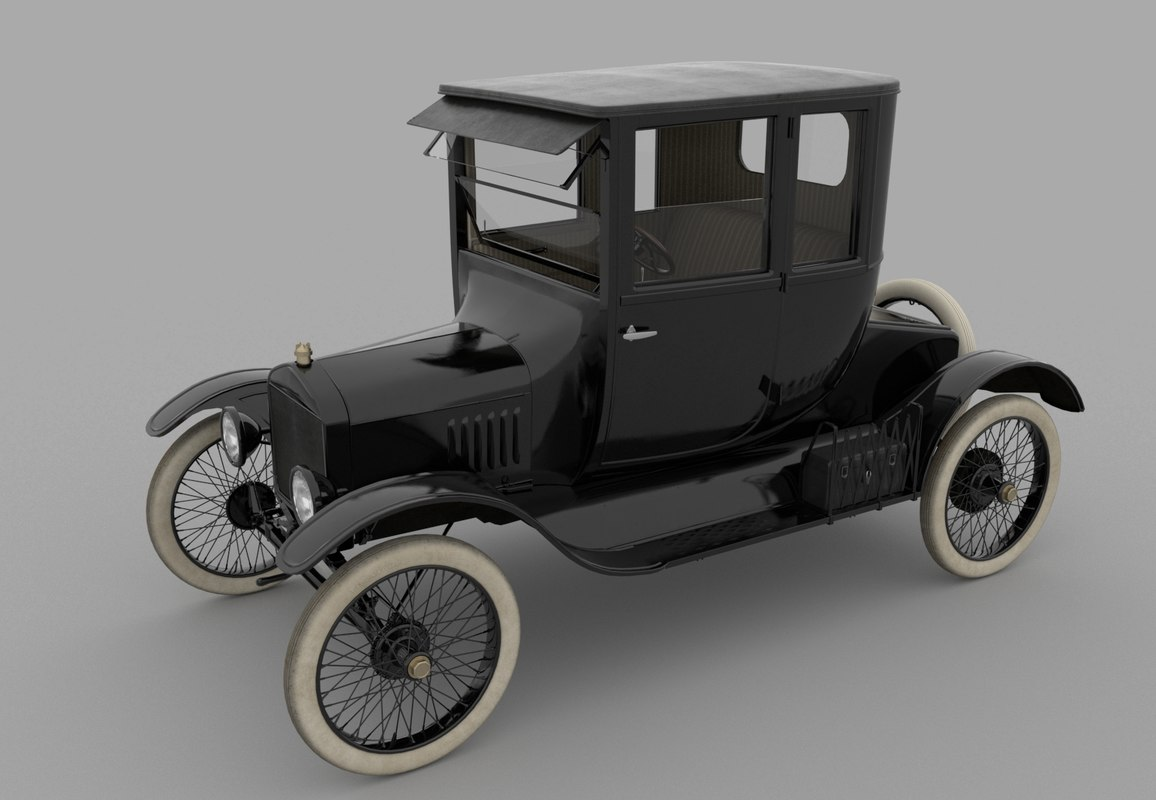 t coupe 1919 modeled 3D