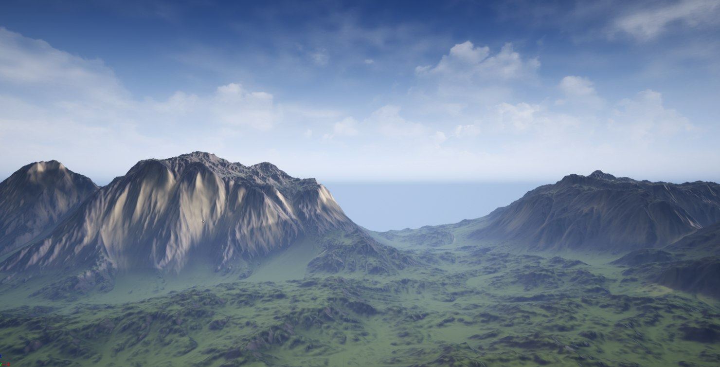 output ue4 landscape 3D model