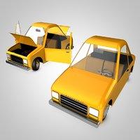 3D model canardly toon car