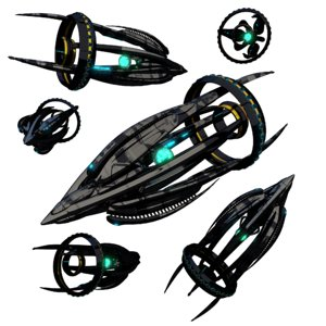 space spaceship ship 3D model