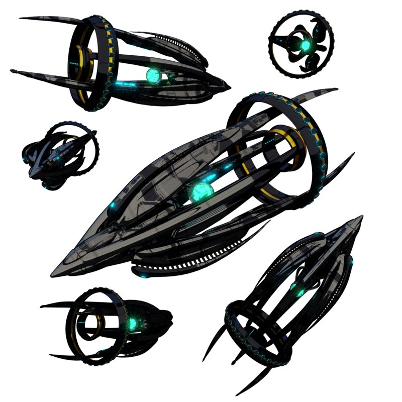 space spaceship ship 3D model