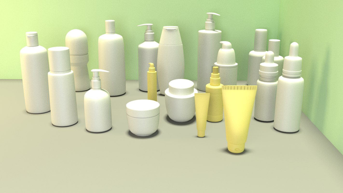 cosmetics cream roll-on perfume 3D