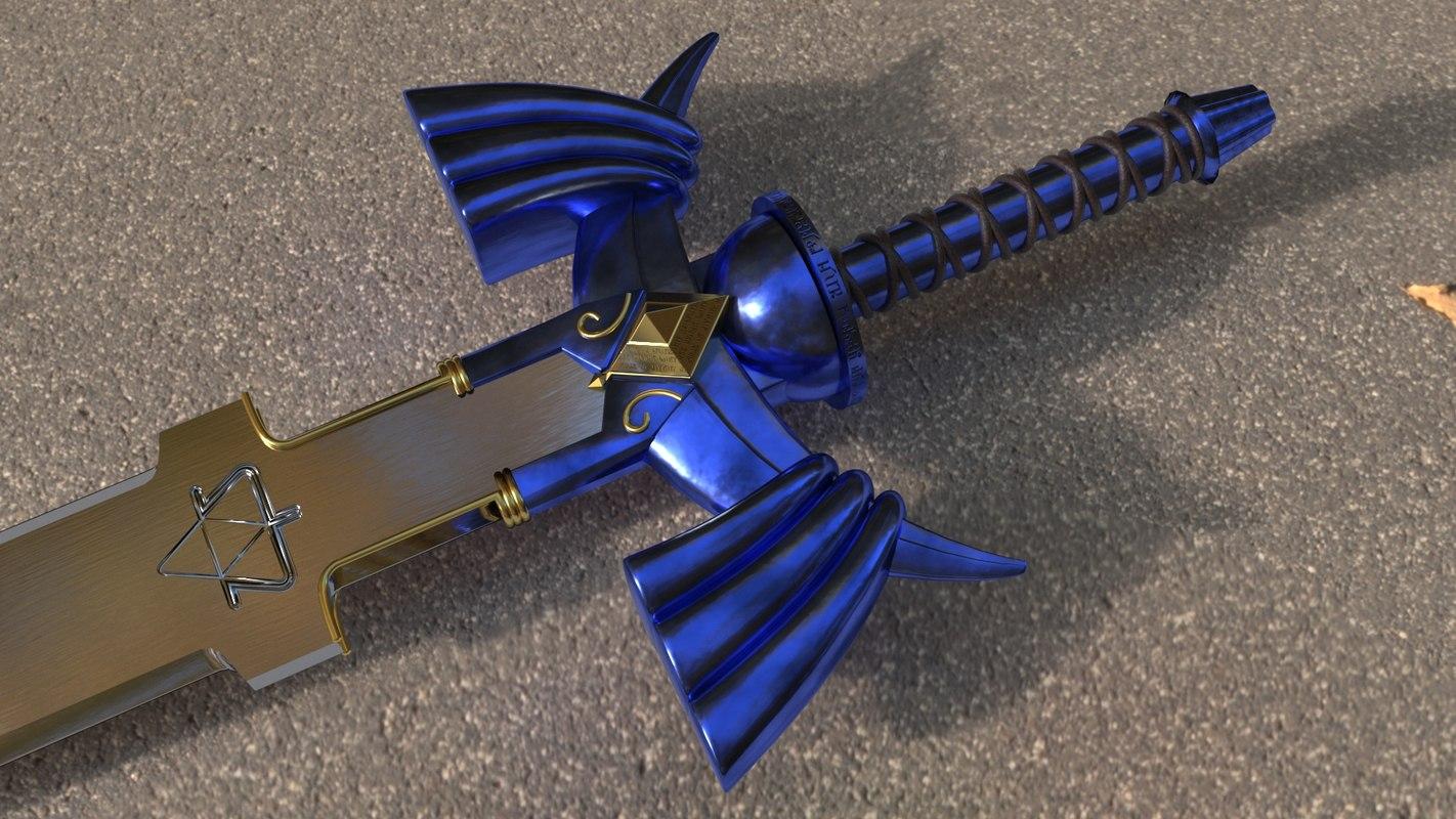 master sword 3D model