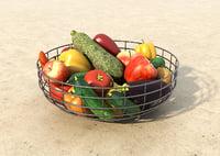 3D fruit vegetable