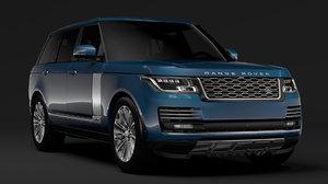 3D range rover autobiography lwb model
