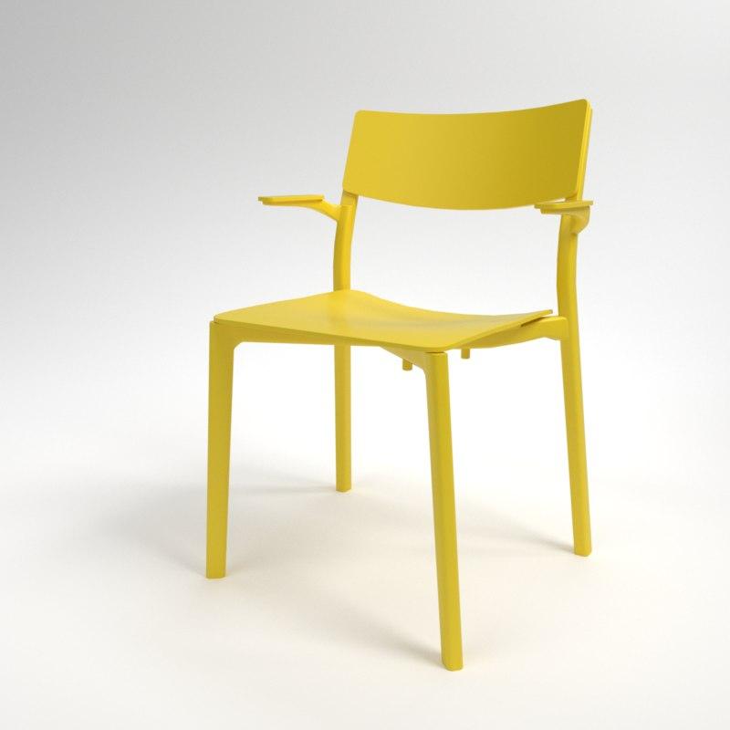 interior ikea yan-inge armchair 3D model