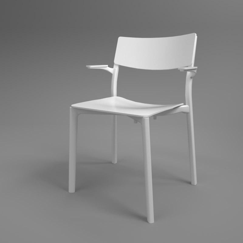 3D interior ikea yan-inge armchair