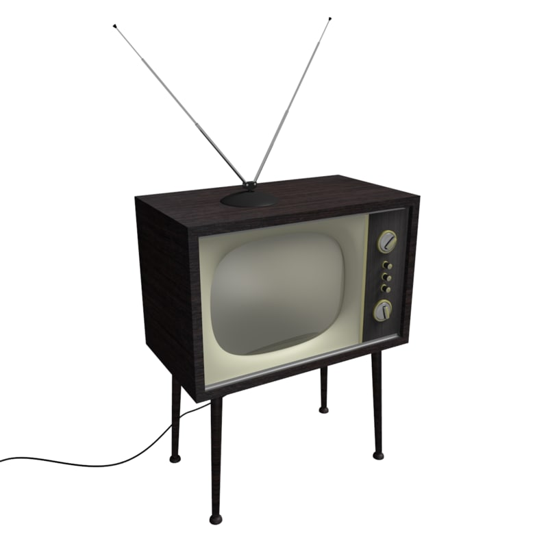 retro vintage tv 3D model