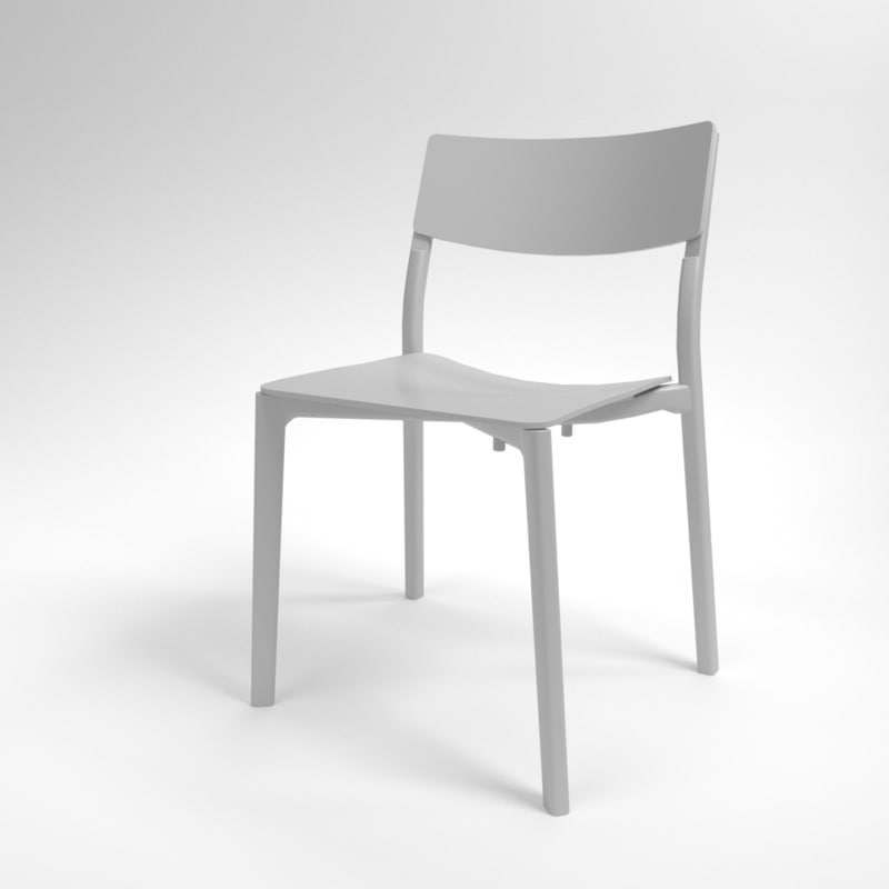 3D interior ikea yan-inge chair model