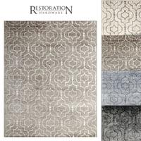 3D model restoration rugs medallions