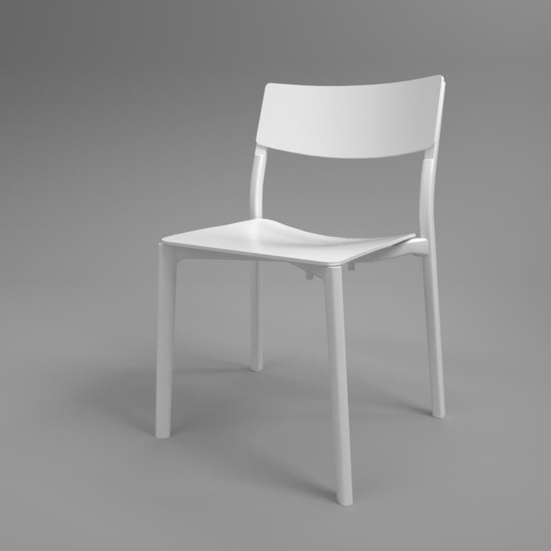 3D interior ikea yan-inge chair