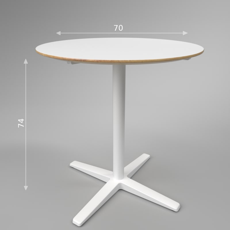 interior ikea bilsta table 3D model