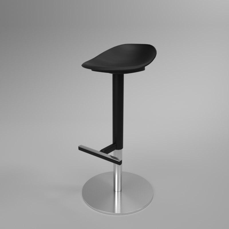 3D model interior ikea yan-inge bar chair