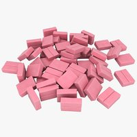 3D chewing gum pile 03