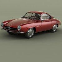 3D model 1961 alfa romeo giulietta
