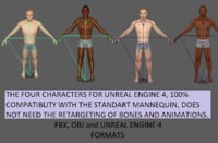 male people 3D model