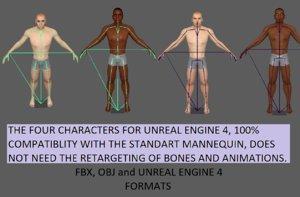 male people 3D model