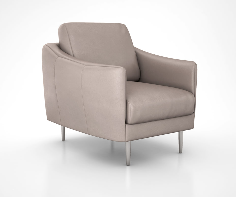 3D model sloane leather chair west