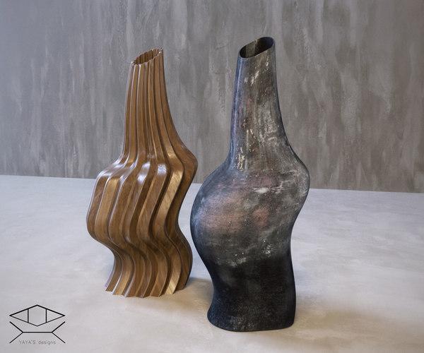 3D decor vases