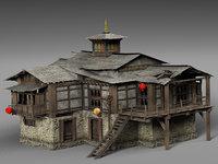old house tibet model