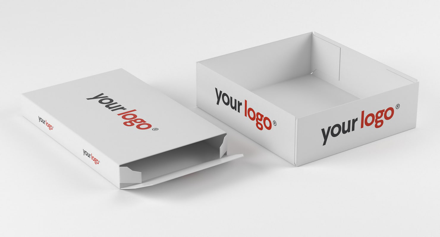 realistic packing boxes set 3D model