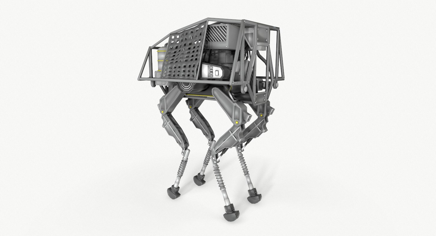 bigdog dynamically robot boston 3D model